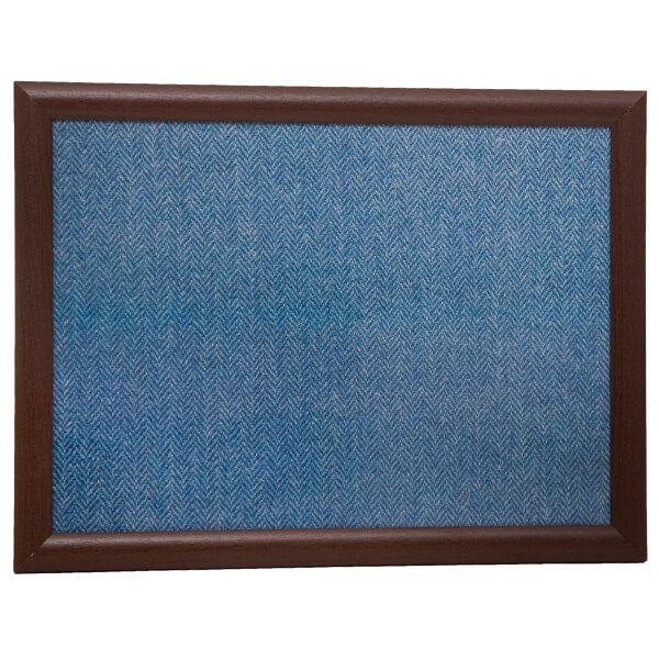 Country Matters Tweed Blue Herringbone Laptray
