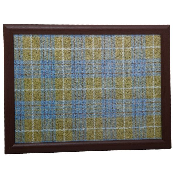 Country Matters Tweed Yellow and Blue Laptray