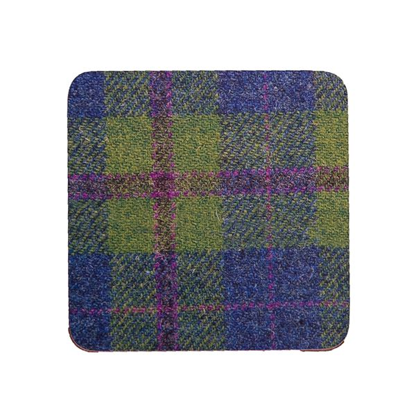 Country Matters Tweed Green and Blue Coaster