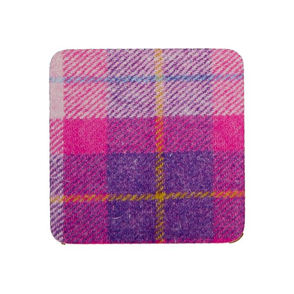 Country Matters Tweed Pink Coaster
