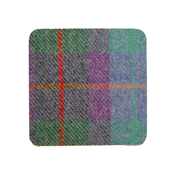 Country Matters Tweed Turquoise Coaster