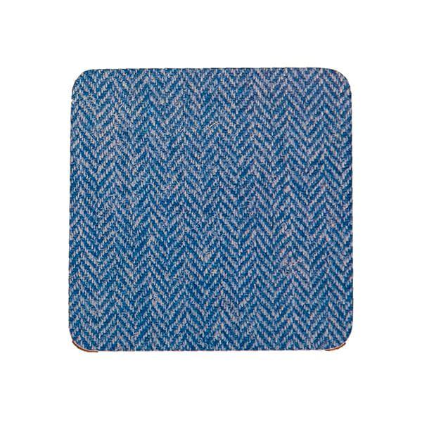 Country Matters Tweed Blue Herringbone Coaster