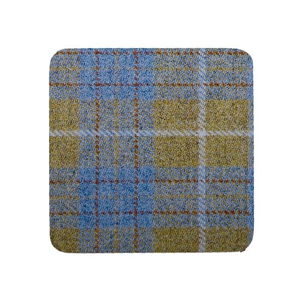 Country Matters Tweed Yellow and Blue Coaster