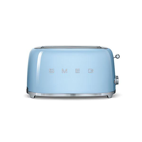 Smeg 4 Slice Toaster, Pastel Blue