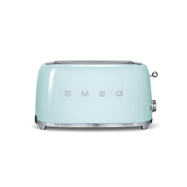 Smeg 4 Slice Toaster, Pastel Green