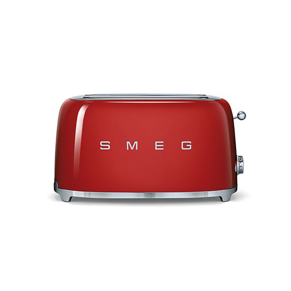 Smeg 4 Slice Toaster, Red
