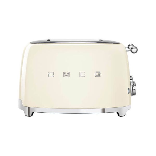 Smeg 4 x 4 Slice Toaster, Cream