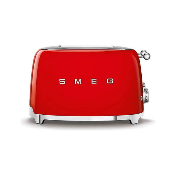 Smeg 4 x 4 Slice Toaster, Red