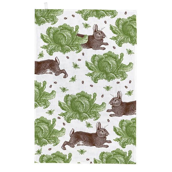 Thornback & Peel Rabbit & Cabbage Tea Towel