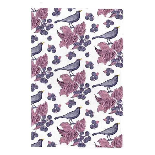 Thornback & Peel Blackbird & Bramble Tea Towel