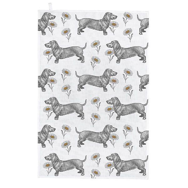 Thornback & Peel Dog & Daisy Tea Towel