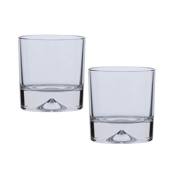 Dartington Dimple Lead Crystal Set Of 2 Double Old Fashioned Tumblers