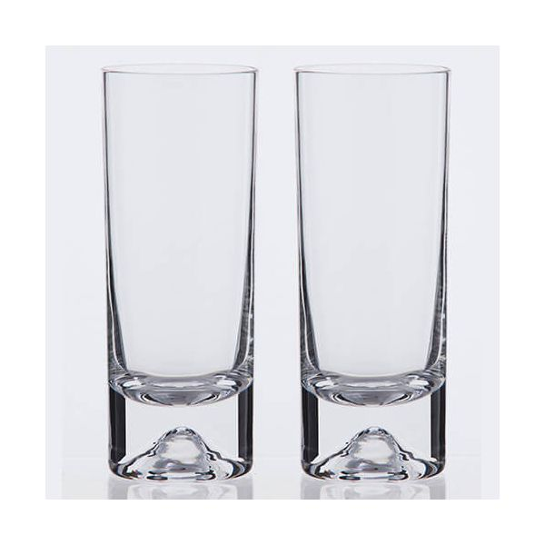 Dartington Dimple Lead Crystal Set Of 2 Highballs