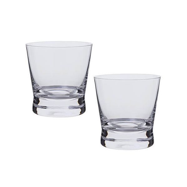 Dartington Bar Excellence Lead Crystal Set Of 2 Whisky Rocks Glasses