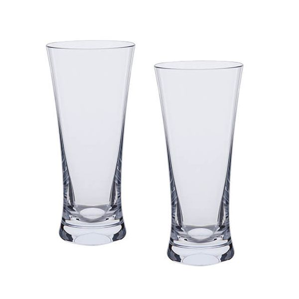 Dartington Bar Excellence Lead Crystal Set Of 2 Beer Glasses