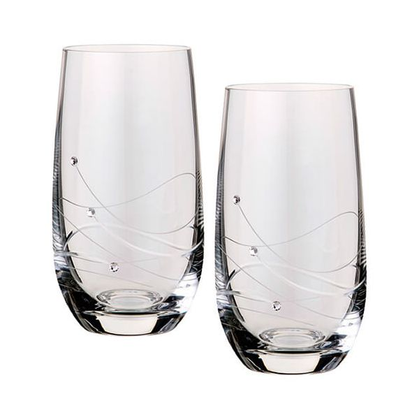 Dartington Glitz Swarovski Elements Set Of 2 Highballs