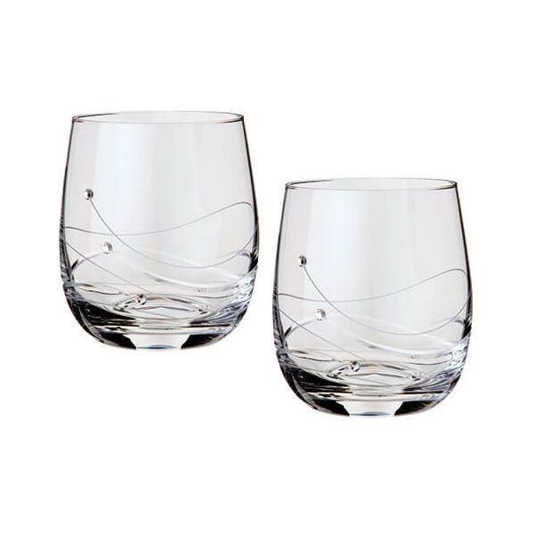 Dartington Glitz Swarovski Elements Set Of 2 Tumblers