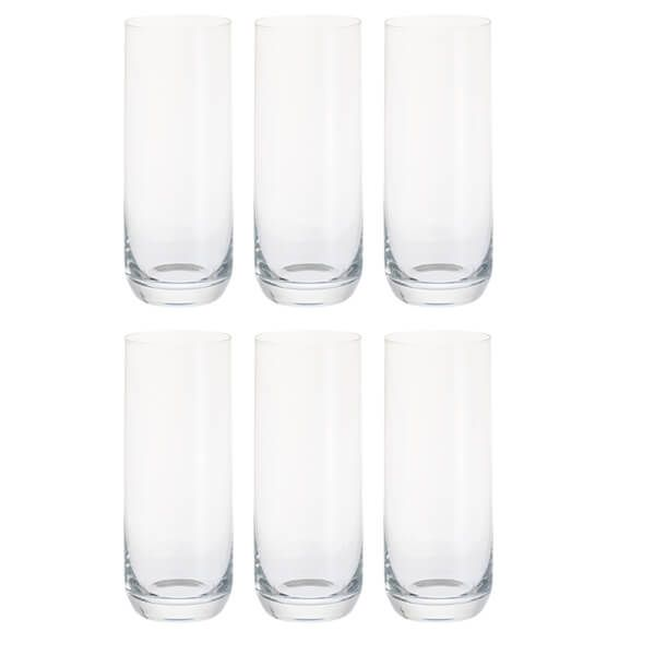 Dartington Party Set Of Six Slim Gin Glasses
