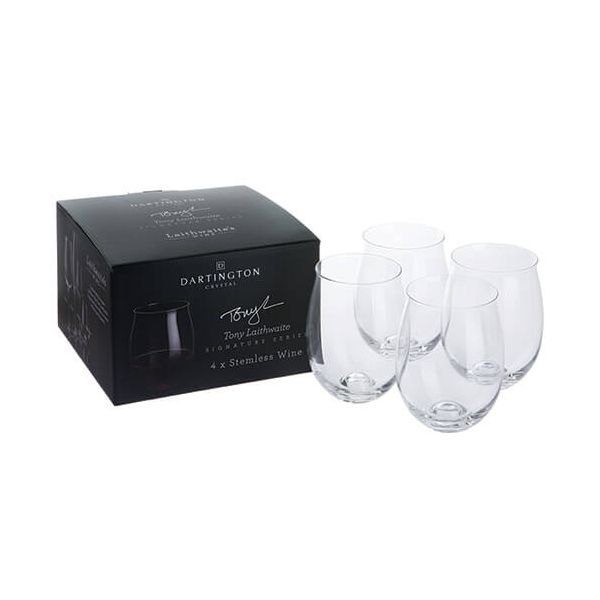 Dartington Tony Laithwaite Signature Collection Set Of 4 Stemless Tumblers