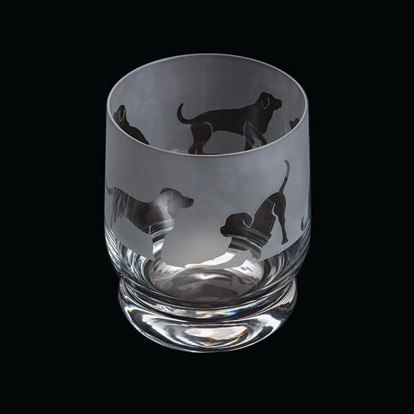 Dartington Aspect Tumbler Labrador
