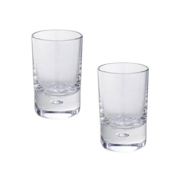 Dartington Exmoor Lead Crystal Set Of 2 Shot Glasses