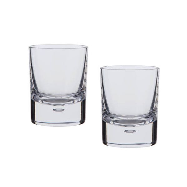 Dartington Exmoor Lead Crystal Set Of 2 Old Fashioned Tumblers