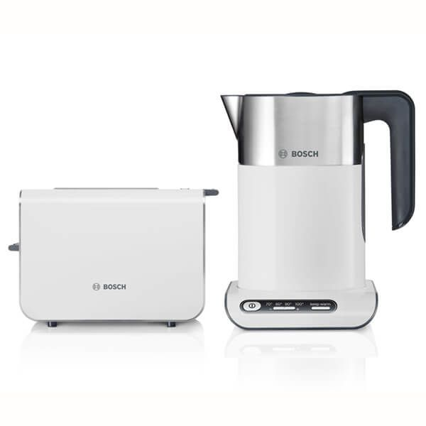 Bosch Styline Kettle & Toaster Set White