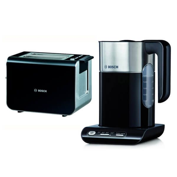 Bosch Styline Kettle & Toaster Set Black