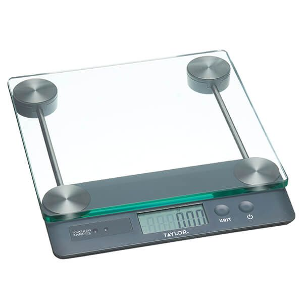 Taylor Pro Touchless Tare 14.4kg Digital Dual Kitchen Scale