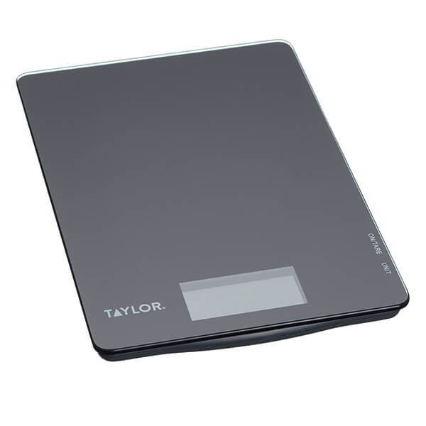 Taylor Pro Black Glass 5kg Digital Dual Kitchen Scale