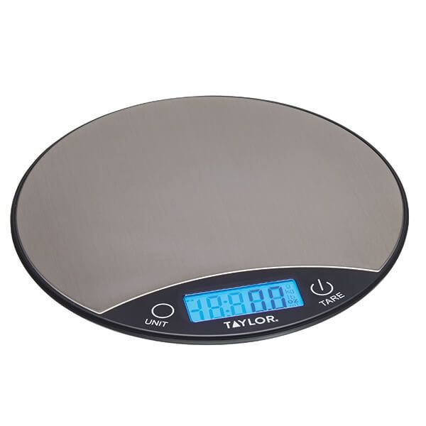 Taylor Pro Black & Silver 5kg Digital Dual Kitchen Scale