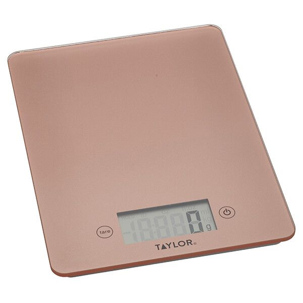 Taylor Pro Rose Gold Glass 5kg Digital Kitchen Scale