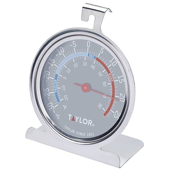 Taylor Pro Stainless Steel Freezer & Fridge Temperature Thermometer