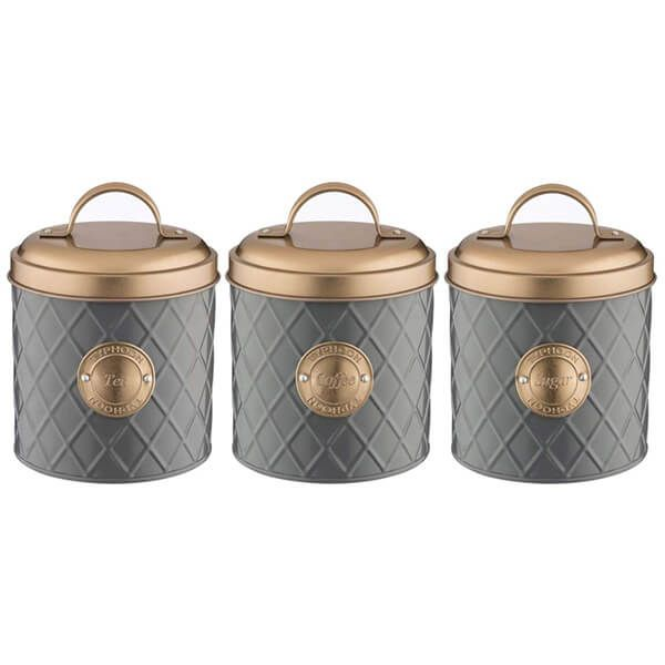 Typhoon Copper Lid Coffee, Sugar & Tea Storage Set