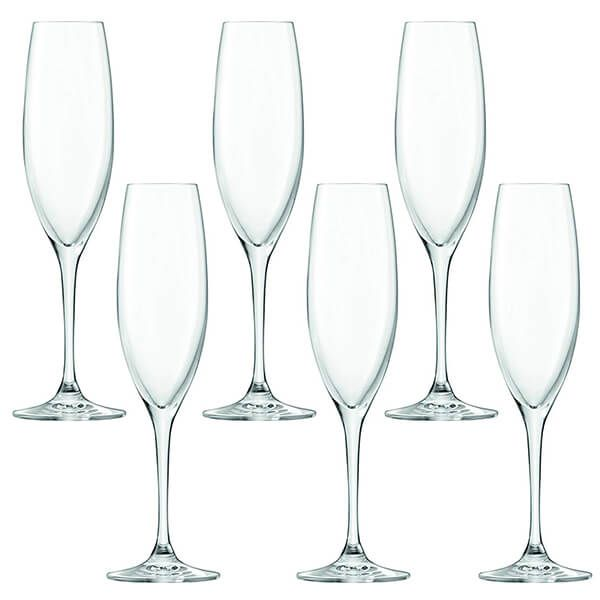 LSA Uno 225ml Champagne / Prosseco Flutes, 6 for 4