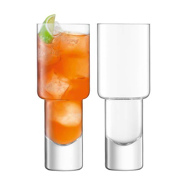 LSA Vodka Mixer Glass 400ml Set Of 2