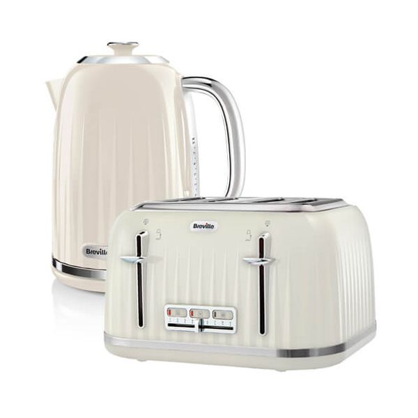 Breville Impressions Kettle & Toaster Set Cream