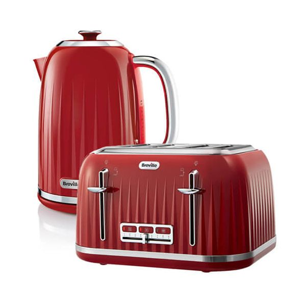 Breville Impressions Kettle & Toaster Set Red