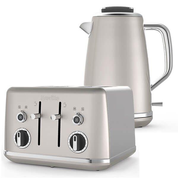 Breville Lustra Kettle & Toaster Set Cream