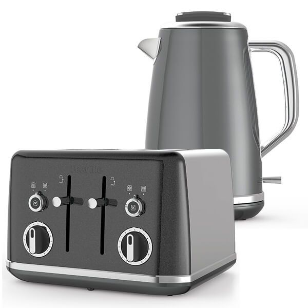 Breville Lustra Kettle & Toaster Set Grey