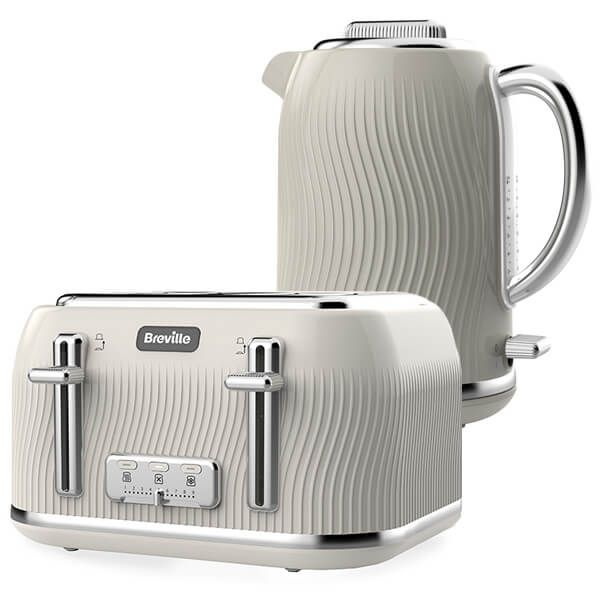 Breville Flow Kettle & Toaster Set Cream