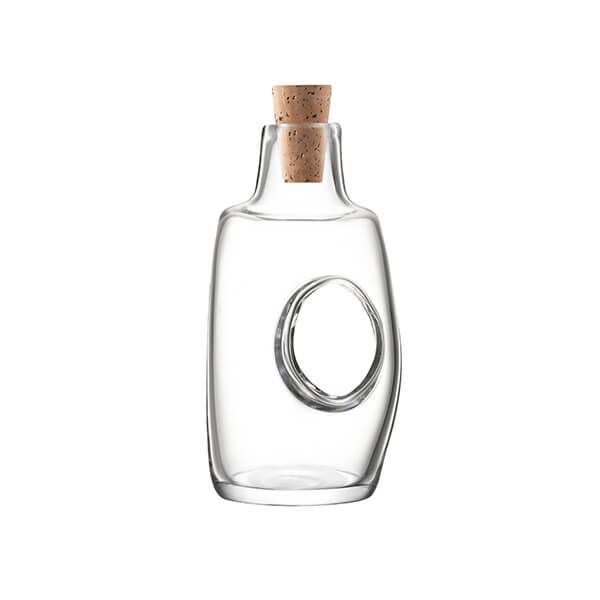 LSA Void Oil & Vinegar Bottle & Cork Stopper 120ml Clear