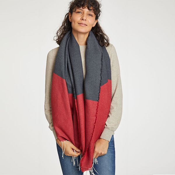 Thought Redcurrant Linnear Scarf