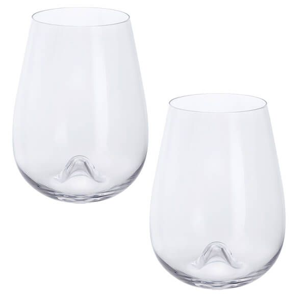 Dartington Wine & Bar Stemless White Wine Pair