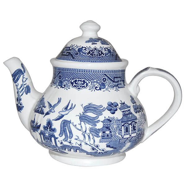 Churchill China Blue Willow Georgian Teapot 1200ml