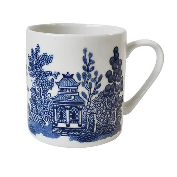 Churchill China Blue Willow 340ml Straight Sided Mug