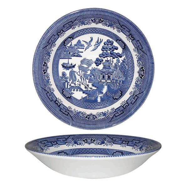 Churchill China Blue Willow Coupe Bowl 20cm