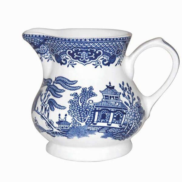 Churchill China Blue Willow Georgian Cream Jug 230ml