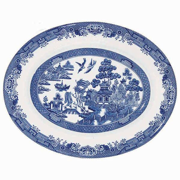 Churchill China Blue Willow 31cm Oval Dish