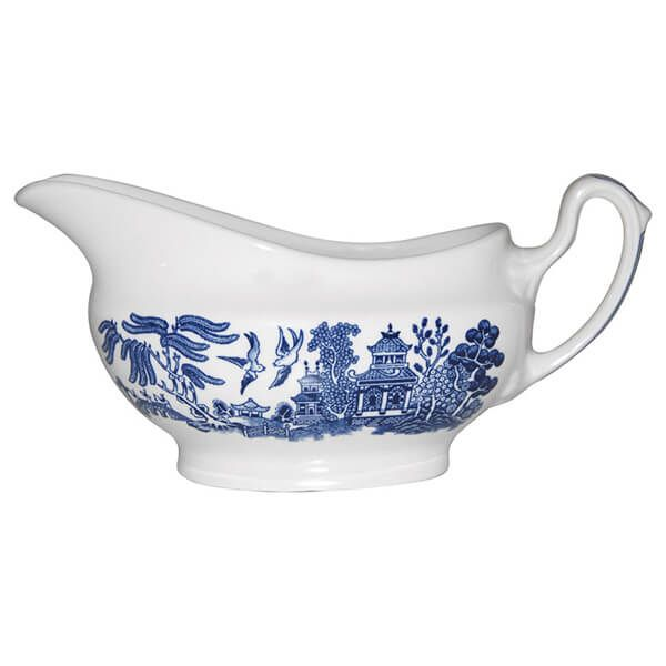 Churchill China Blue Willow Georgian Gravy Boat 340ml